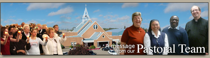 Click for a message from our Pastoral Team